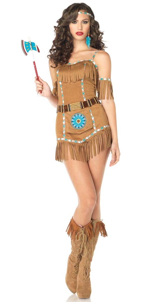 Costume Dindien Déesse Tribal Deguisement Cowgirl Déguisement Femme
