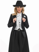 Vieux temps femme shérif Costume Deguisement cowgirl