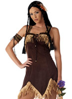 Costume de princesse indienne sexy Deguisement cowgirl