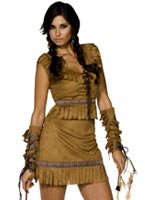 Costume de fille indienne Pocahontas Deguisement cowgirl