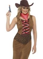 Costume Cowgirl frange Deguisement cowgirl