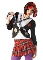St Trinians Emo School Girl Costume Deguisement ecoliere