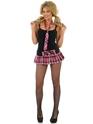 Deguisement ecoliere Pink Tartan School Girl Set