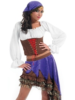 Costume de Gypsy Queen Deguisement pirate