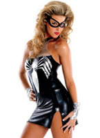 Noir Spider Girl Costume de luxe Deguisement super héros