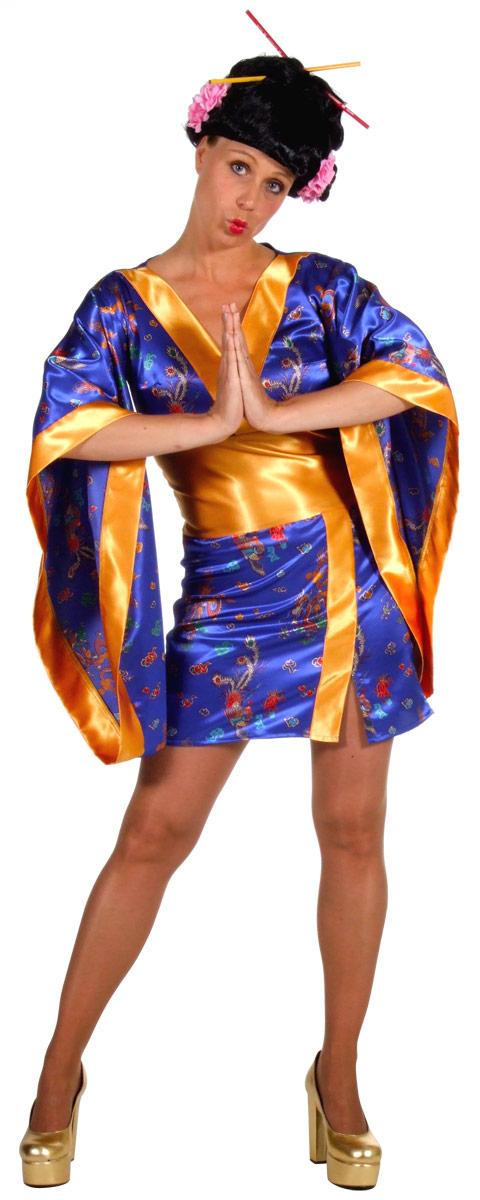 geisha sexy bleu kimono deguisement geisha d guisement femme 25 08 2018. Black Bedroom Furniture Sets. Home Design Ideas