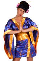Geisha sexy bleu Kimono Deguisement geisha