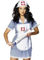 Infirmières coquines Costume blanc bleu Deguisement infirmière