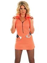 Costume de fille de prisonnier Deguisement policiere
