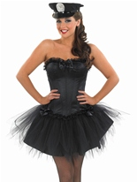 Mesdames noir Costume de flic Sexy Deguisement policiere