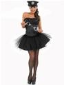 Deguisement policiere Mesdames noir Costume de flic Sexy