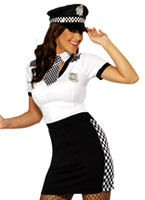 Mesdames flic Costume Deguisement policiere