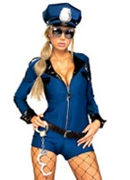 Costume Miss Demeanor Police Deguisement policiere