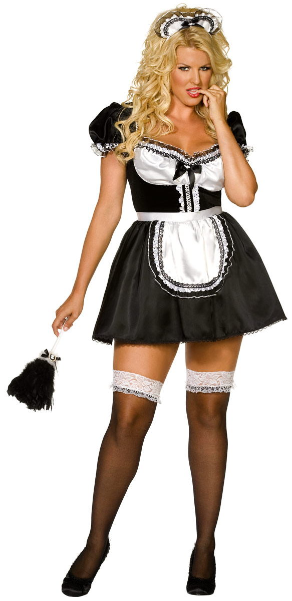 Costume grande taille Plus envie de taille Sexy Fench Maid Costume (FC)