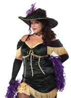 Ainsi Madame Saloon taille Costume Costume grande taille