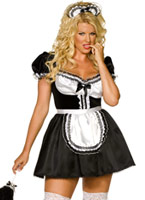 Plus envie de taille Sexy Fench Maid Costume (FC) Costume grande taille