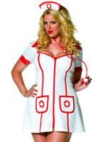 Plus la taille de la chaude infirmière Costume (FC) Costume grande taille