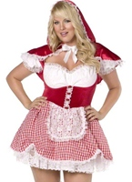 Plus Size Sexy Red Riding Hood Costume (FC) Costume grande taille