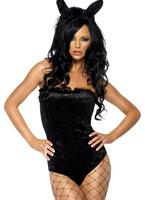 Hôtesse Costume noir Deguisement lapine