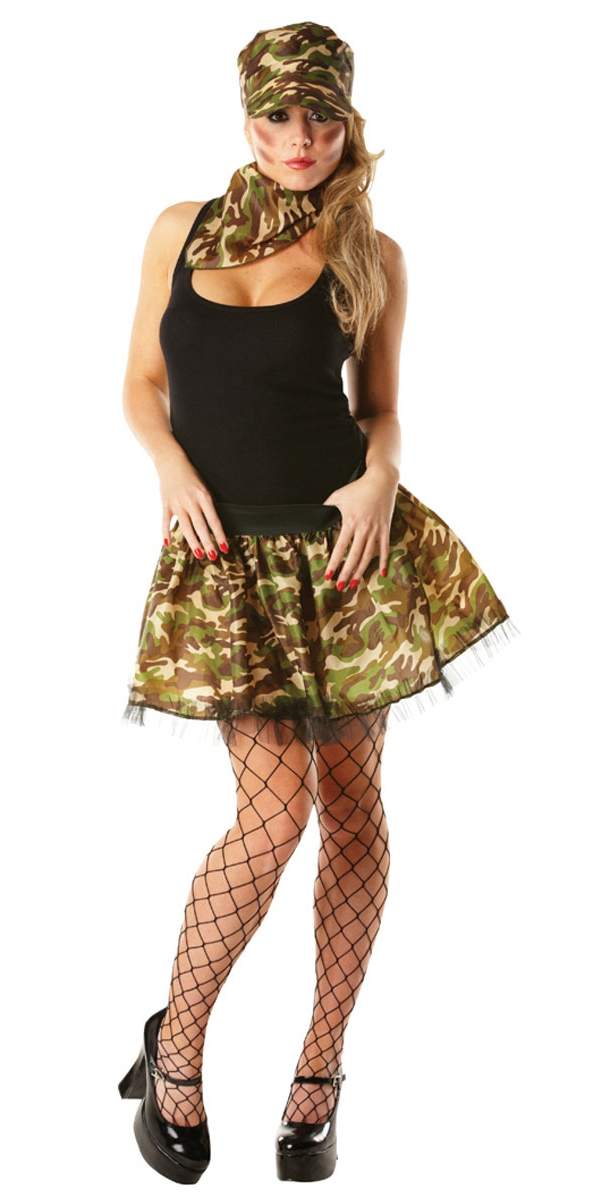 Costume militaire Army Girl Tutu Kit