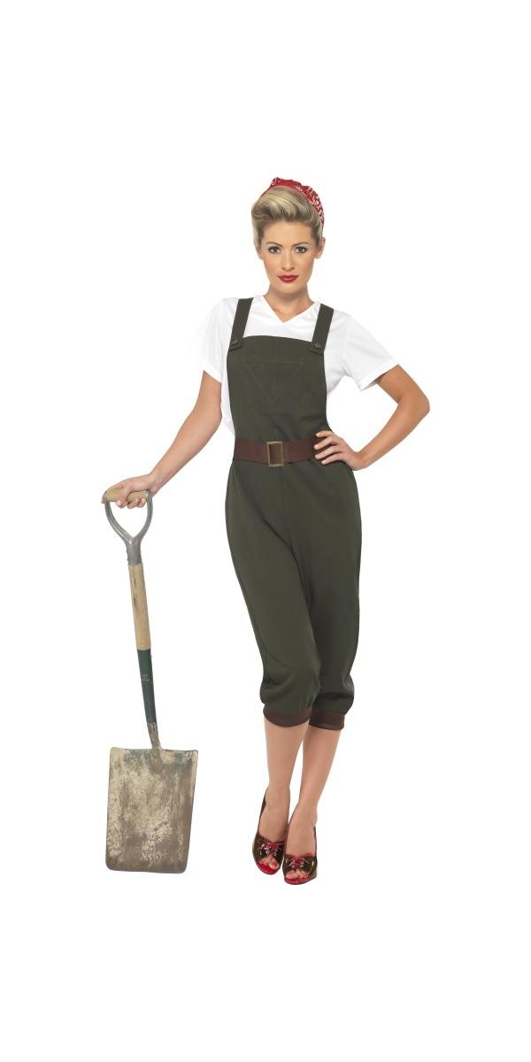 Costume militaire WW2 Costume de fille de terre