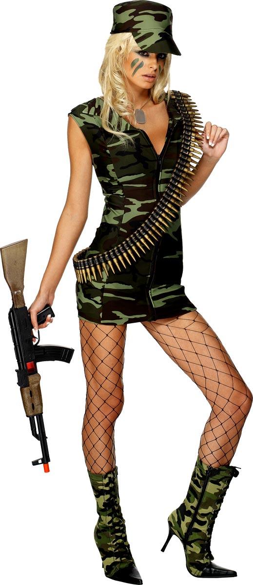 Costume militaire Combattre l'armée Girl Costume