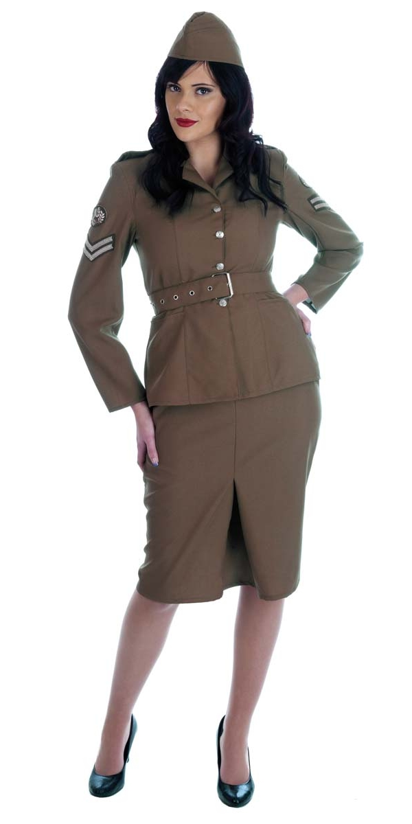 Costume militaire World War 2 armée Girl
