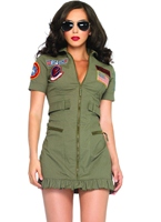 Top Gun Flight Womens robe Costume militaire