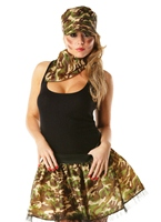 Army Girl Tutu Kit Costume militaire
