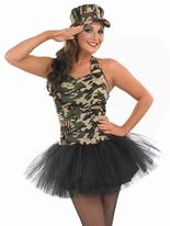 Commando Tutu Girl Costume Costume militaire