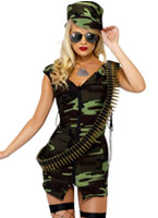 Combattre l'armée Girl Costume Costume militaire