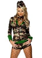 Deluxe poussin Combat armée Costume kaki Costume militaire