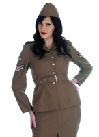 World War 2 armée Girl Costume militaire