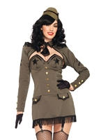 Pin Up armée Girl Costume Costume militaire