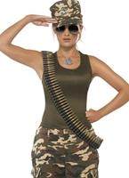 Costume armée Camo kaki Costume militaire