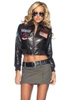 Top Gun Womens Bomber Veste Costume Costume militaire