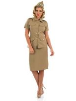 Costume Lady GI américain des années 1940 Costume militaire