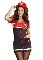 Burn Baby Burn Firegirl Costume Deguisement pompier