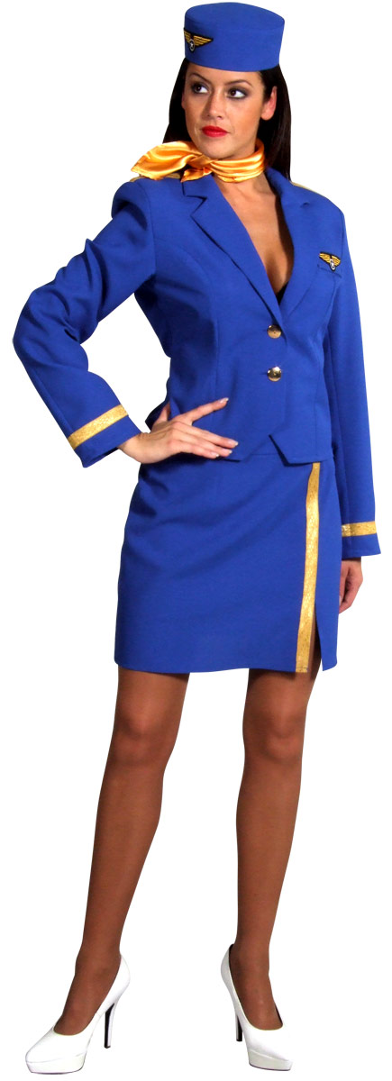 Costume hotesse Air Hostess Costume bleu