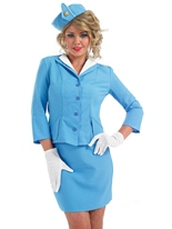 Cabin Crew bleu Costume Costume hotesse