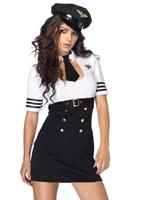 Costume de capitaine de première classe Costume hotesse