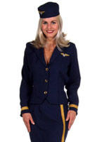 Air Hostess, Costume bleu marine Costume hotesse