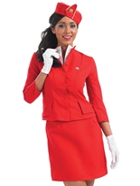 Cabine équipage Costume rouge Costume hotesse