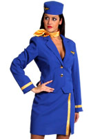 Air Hostess Costume bleu Costume hotesse