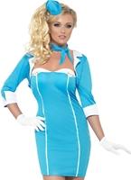 Hôtesse de fièvre avec le Costume Mostess Costume hotesse