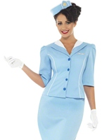 Ladies Blue Air Hostess Costume Costume hotesse