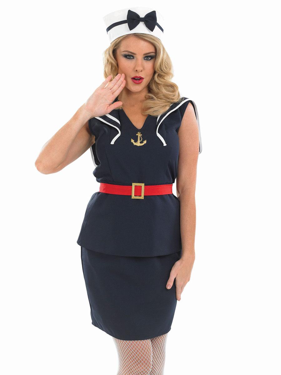 pin up sailor costume de fille costume marine d guisement femme 20 02 2019. Black Bedroom Furniture Sets. Home Design Ideas