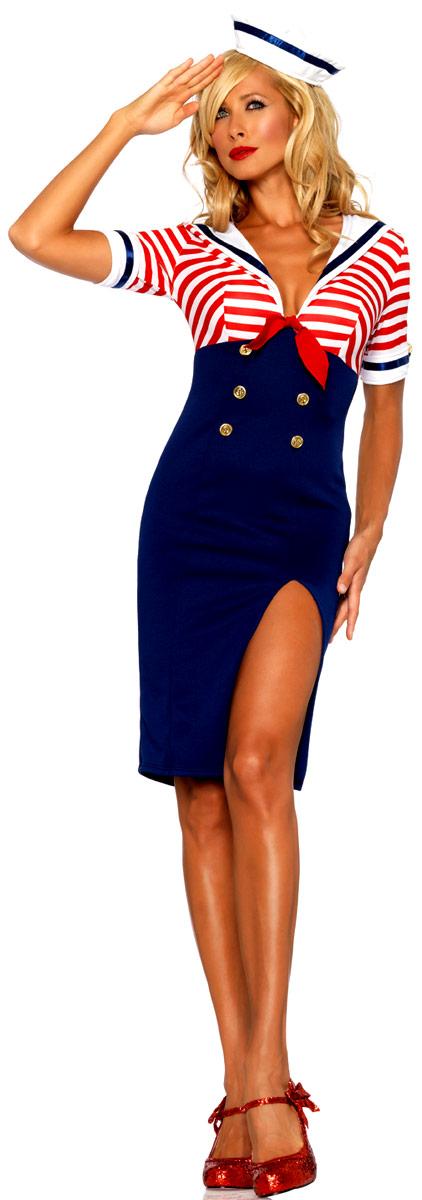 costume de matelot diva costume marine d guisement femme. Black Bedroom Furniture Sets. Home Design Ideas