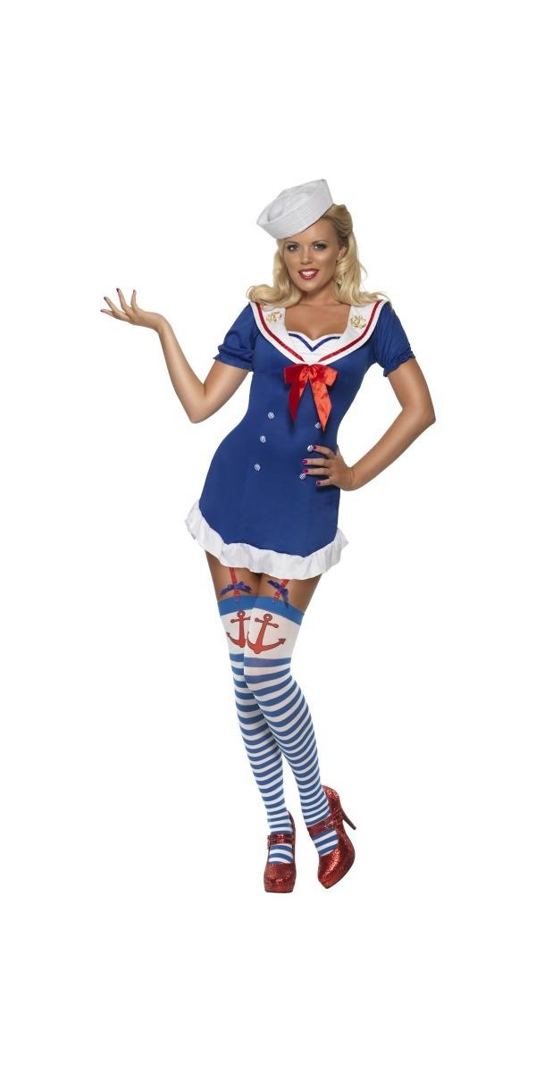 Costume marine Fièvre Pin Up Ohé Sailor Costume