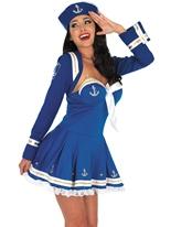 Costume bleu marin affectueux Costume marine
